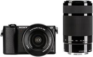 Miglior prezzo fotocamera digitale sony alpha 5100 kit 16-50mm + 55-210mm black (ILCE5100YB.CEC) -