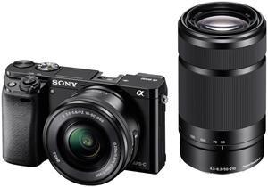 Miglior prezzo fotocamera digitale sony alpha 6000 kit 16-50mm + 55-210mm black (ILCE6000YB.CEC) -